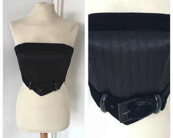 Giorgio Armani Armani 90 years-Top Vintage Bustier-Bustiers velvet and silk Armani size XS