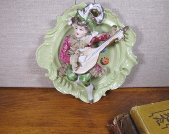 Thames Porcelain Wall Plague - Musician - Hand Painted - Made in Japan