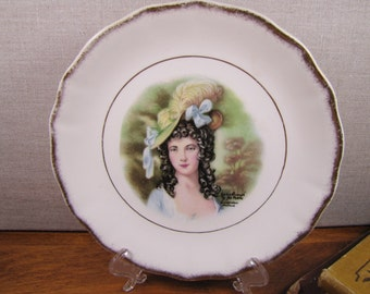 Royal Staffordshire - Porcelain Plate - Lady With Hat - Gainsborough by Jeh Peters - Amsterdam, Holland