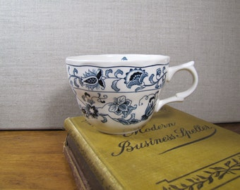 Nikko Blue and White Teacup - Ming Tree