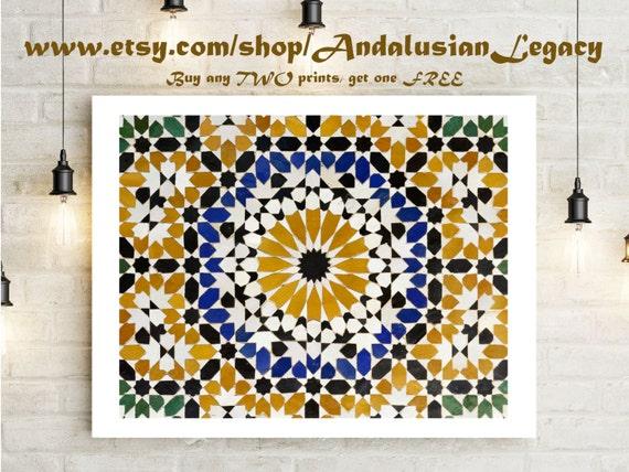 Art culos similares a azulejos de mosaico marroqu for Mosaico marroqui