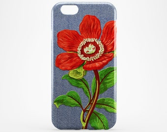 Red Flower iPhone 6 Case Blue Jeans iPhone 7 Cover iPhone 6 Plus Case Floral iPhone 7 Plus Case iPhone SE iPhone 4-5 Case Flower Galaxy Case