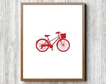 Red Bike 8 x 10 Printable