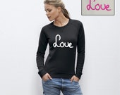Custom made handwriting sweater - sweatshirt, organic cotton, women