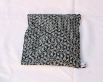 Hot water bottle dry square removable grain of rice Collection black Japanese