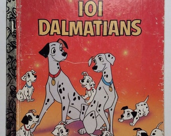 Walt Disney's Classic 101 Dalmatians Vintage Little Golden Book 1988