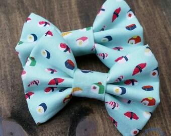 Sushi hair clip headband bow tie