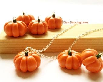 Handmade Pumpkin Necklace pumpkin jewelry Vegetable necklace squash necklace Autumn jewelry Autumn necklace Fall Thanksgiving necklace