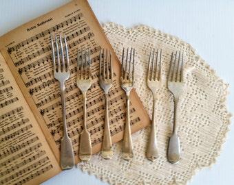 Vintage epns forks/ set of 6, polished and nice vintage condition