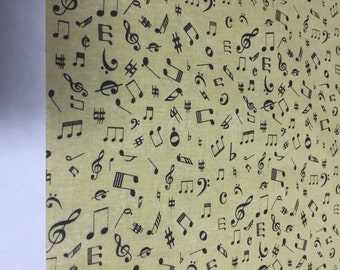 Symphony Suite tan music notes from Blank Quilting By the yard