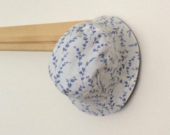 Blue and White Floral Baby and Childrens Summer Bucket Hat