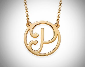 Cut Out Initial Necklace / Personalized Initial Necklace
