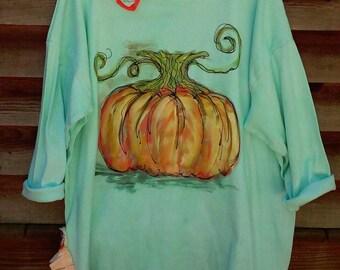 Pumpkin Tunic Hand Painted KellyJacksonDesign