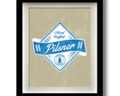 "Pilsner Craft Beer Label 11x14"" print"