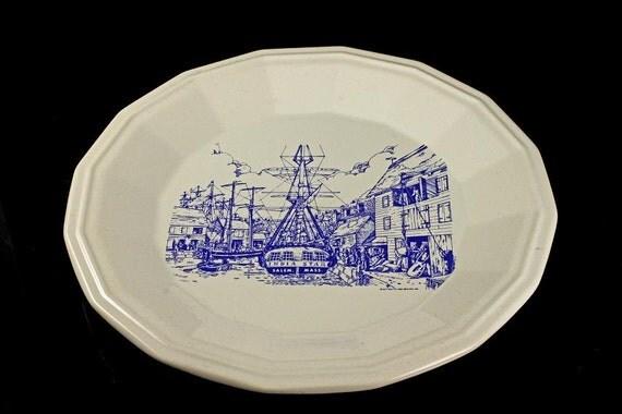 Decorative Souvenir Plate, Homer Laughlin, Salem, Massachusetts