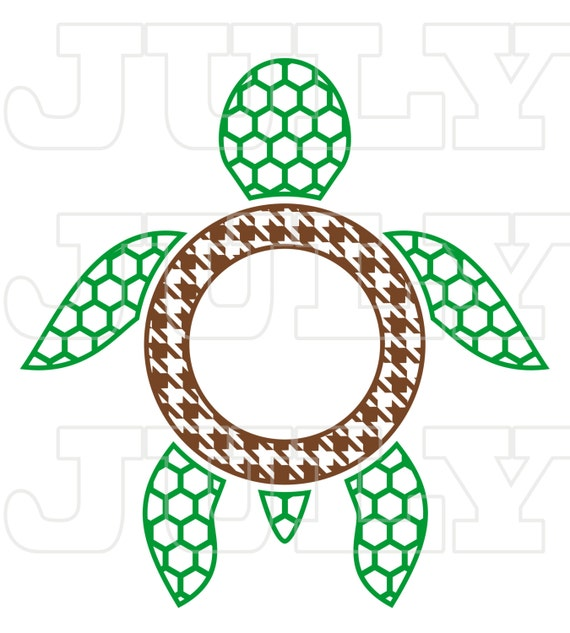 Download Turtle Monogram Frame, Turtles SVG Cut Files, Turtle svg ...