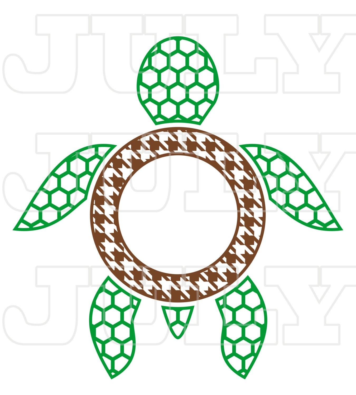 Download Turtle Monogram Frame Turtles SVG Cut Files Turtle svg SVG