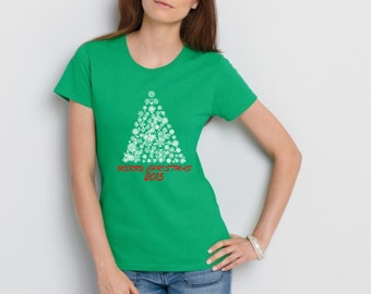 Christmas T Shirt – White & Green