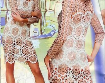 Robe de dames / crochet / sur commande