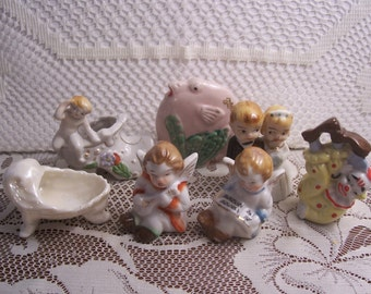 Seven Assorted Made in Japan Miniature Figures