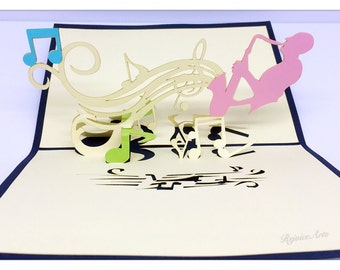3D Pop Up Jazz Music Card