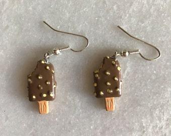 Chocolate icecream earring kawaii