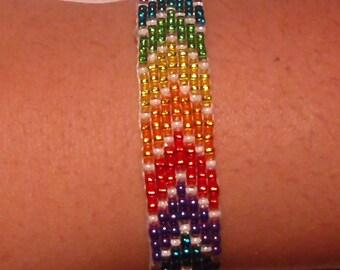 Beaded Pride bracelet