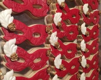 Mardi Gras Masquerade Themed Sugar Cookies