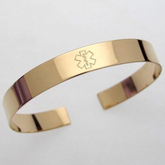 Custom Medical Alert Bracelet Hidden Message Engraved