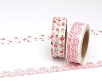 Floral & Lace Washi Tape Set