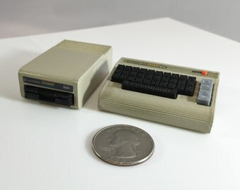 Mini Commodore 64 and 1541 disk drive combo - 3D printed!
