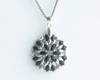 Necklace - Black, Silver, 18 inch Stainless Steel Chain