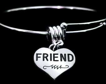 Friend Bracelet Friend Charm Bracelet Best Friend bracelet Friendship Bracelet says it all.