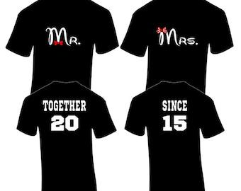 Couple shirt design samples graphics