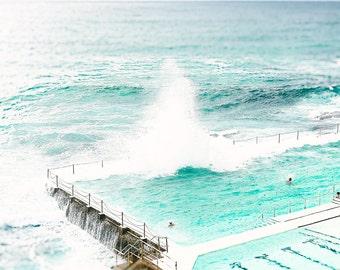 Bondi Beach Print, Bondi Photography, Bondi Icebergs Photo, Bondi Beach Photography, Beach Photography, Beach Print, Beach Home Decor