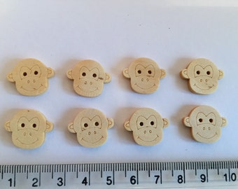 Wooden buttons monkeys