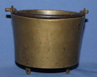 Antique  Hand Made Bronze Footed Bowl Basket Pot