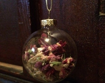 Dried Snapdragon Ornaments
