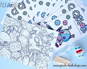 Q-t Bots, coloring book