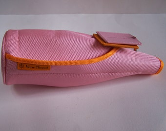 Isothermal jacket cool jacket bottle pink and orange champagne Veuve Clicquot vintage  Made in France