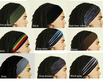 Dreadlocks Headband for Men Dreadlock Hair Wrap Tube Mens Headband Dreadlock Accessory Wide Head Wrap