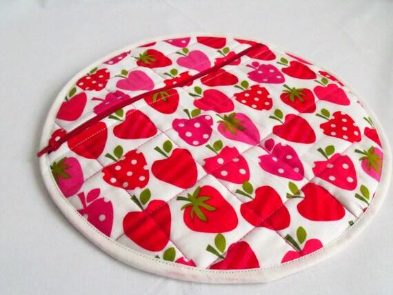 girls pyjama case, nightwear bag, nighty storage pouch, lingerie bag, bed wear tidy, strawberry cotton fabric