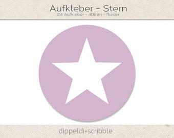 Sticker star lilac
