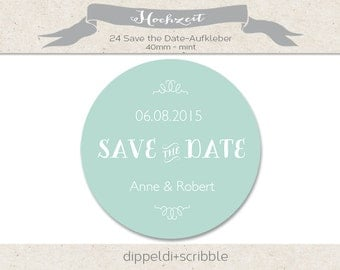 Stickers wedding save the date