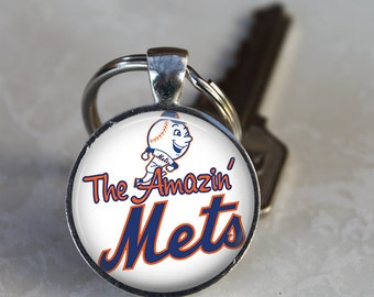 The Amazin' Mets Necklace or Keychain