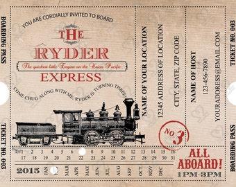 Digital ONLY: Train-Boarding Pass Invitation