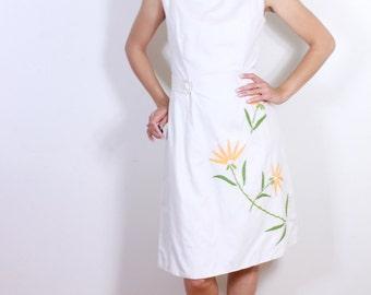 1960s Sweet White Dress