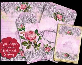 Rose Pink Note Paper Set