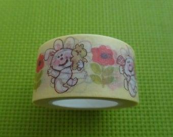 Cute Dancing Rabbits Washi Tape 20mmx10m
