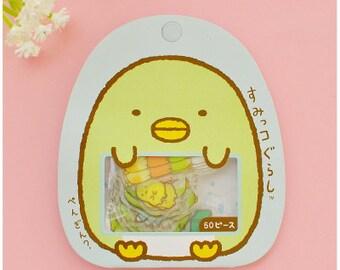 San-X Sumikko Flake Stickers Pack 50PCS-Blue - Kawaii Cat Flake Sticker Set